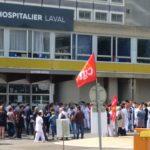 150 manifestants pour un débrayage devant l'Hôpital de Laval