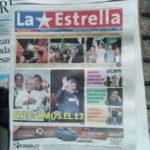 La Une de du journal La Estrella - (c) Photo leglob-journal